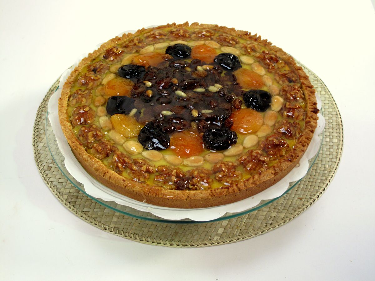 tarta de frutos secos